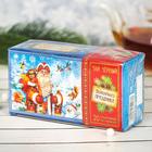 """Чай чёрный 20 пакетиков б/я """"Волшебного праздника"""", дед мороз"""