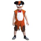 """Карнавальный костюм """"Пёсик с бабочкой"""", велюр, полукомбинезон, шапка, рост 92-98 см, от 1,5-3-х лет, цвет рыжий"""