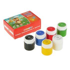 Набор пальчиковых красок, набор «Цветик», 6 цветов, 40 мл