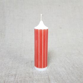 Свеча Новогодняя 'Красный орнамент' 4х13,5 Ош