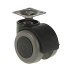Колесо мебельное, d=50 мм, пластиковое, мягкий ход, черное