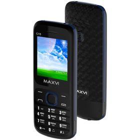 Сотовый телефон Maxvi C15 Black Blue Ош
