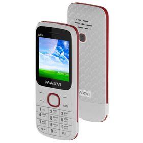 Сотовый телефон Maxvi C15 White Red Ош