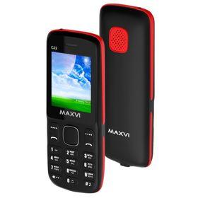 Сотовый телефон Maxvi C22 Black Red Ош