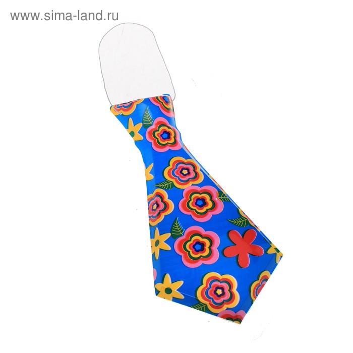 """Карнавальный галстук """"Цветочки"""", набор 6 шт."""