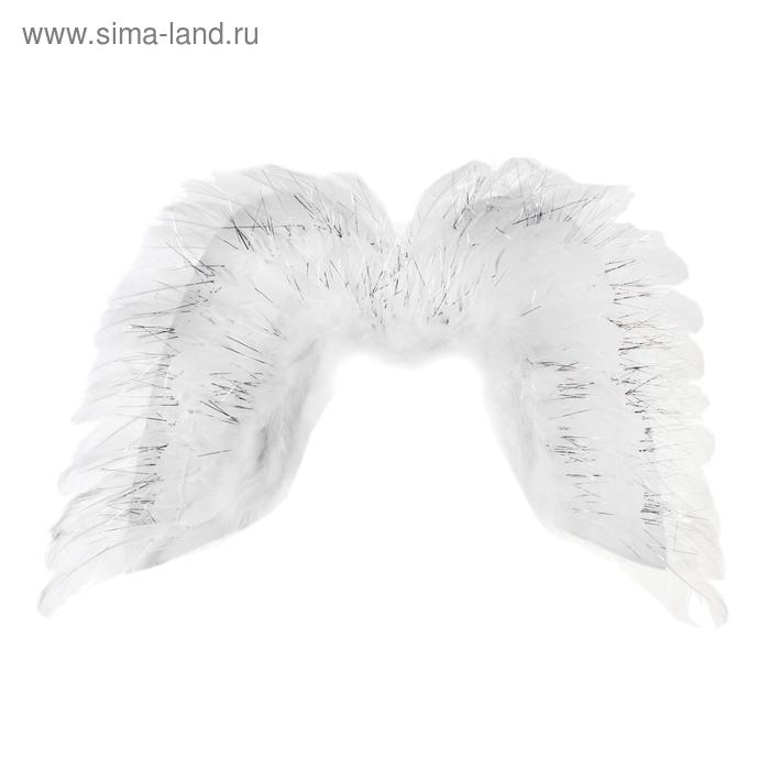 Крылья ангела с блёстками, цвет белый