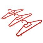 Набор вешалок детских, размер 40-42, 3 шт, цвет МИКС