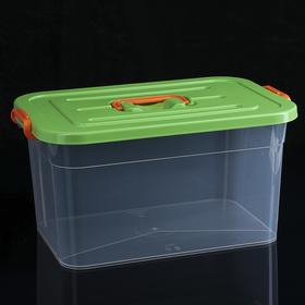Контейнер для хранения с крышкой, 15 л, 41,5×27×22 см, цвет МИКС
