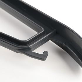 Вешалка-плечики для верхней одежды, размер 52-54, цвет чёрный - фото 4642712
