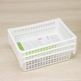 Этажерка напольная универсальная 3-х секционная, на колёсиках, цвет белый