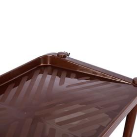 Этажерка для обуви с ложкой, 5 ярусов, 49,5×31×88 см, цвет МИКС - фото 4643390