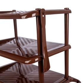 Этажерка для обуви с ложкой, 5 ярусов, 49,5×31×88 см, цвет МИКС - фото 4643391