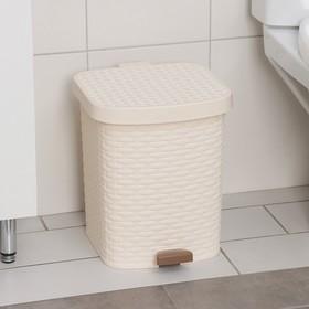 Контейнер для мусора с педалью «Артлайн», 12 л, цвет МИКС