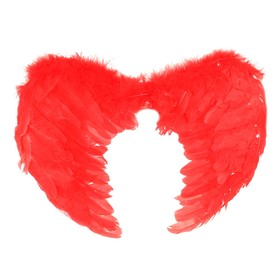 Angel wings, color red