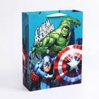 """Пакет ламинированный вертикальный  """"С Днем рождения, супергерой!"""", Мстители, 31 х 40 х 11 см"""