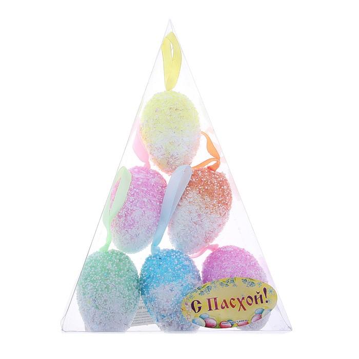 """Сувенир - пасхальное яйцо """"Радуга"""" (набор 6 шт)"""