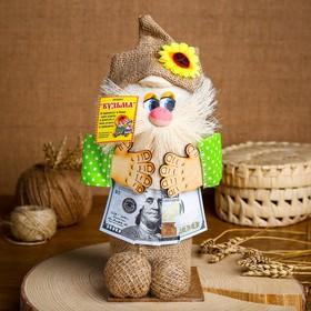 Сувенир «Домовой с деньгами в руках», микс