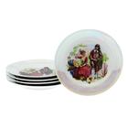 """Набор тарелок 17 см мелких 5 предмета см ф.653 идиллия""""Полевые маки""""  УЦЕНКА"""