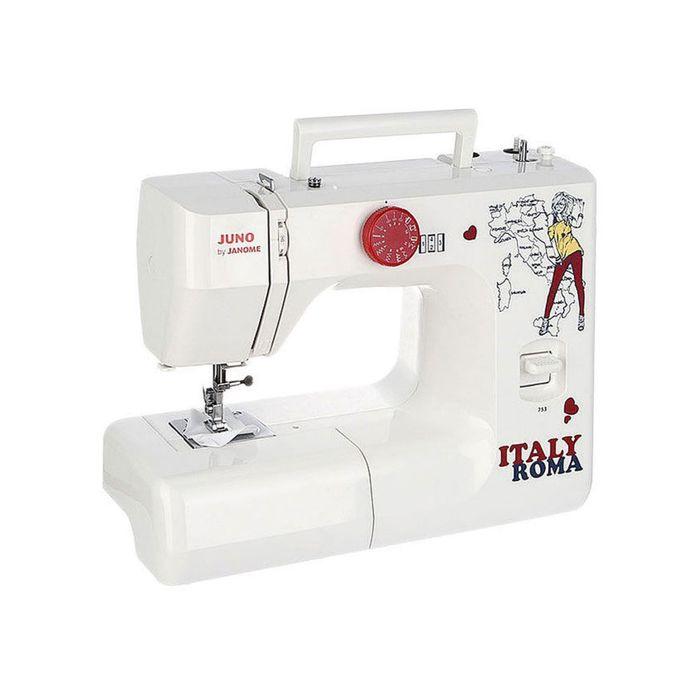 Швейная машина Janome Juno 753, 12 операций, электромеханическое управление, белая