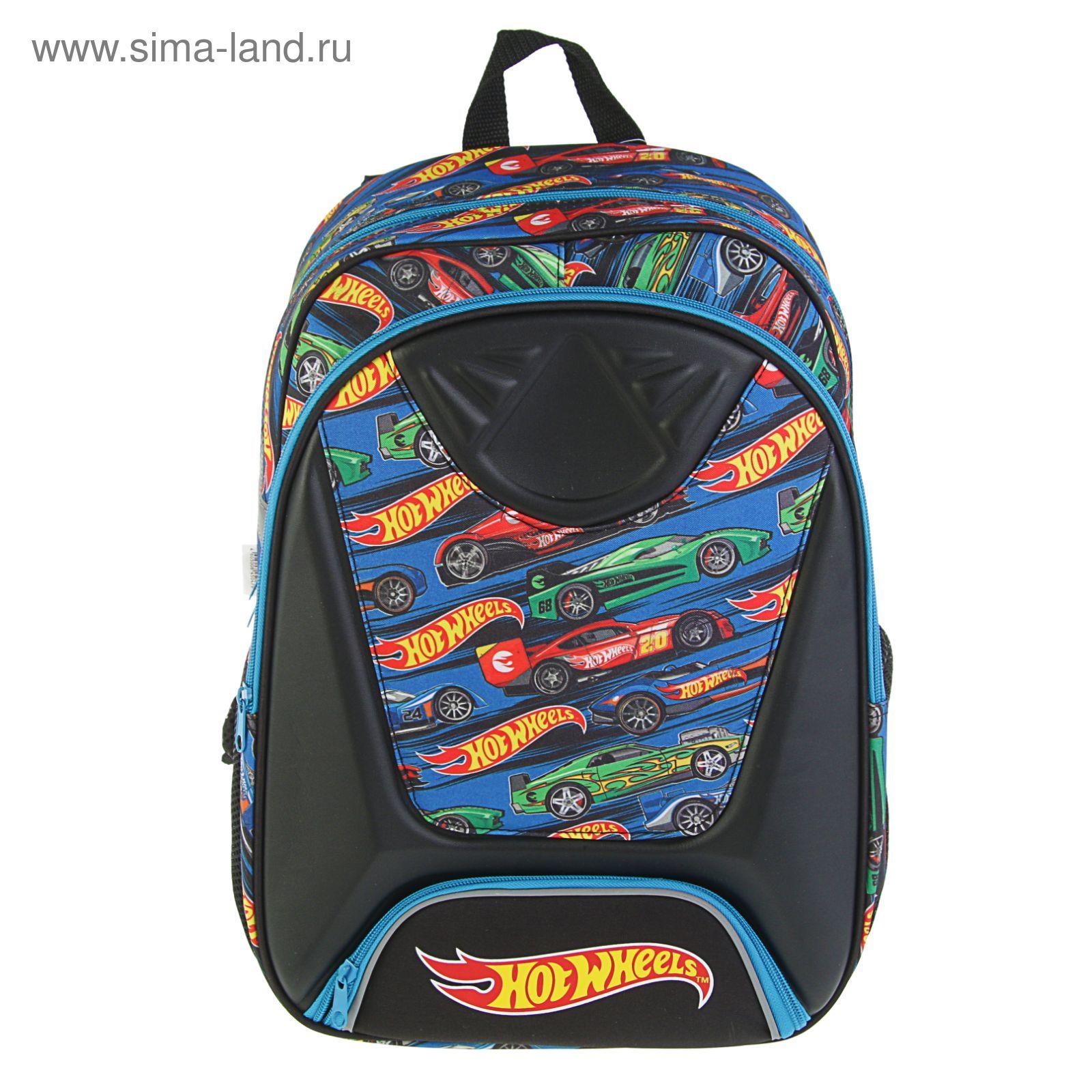 57652f08adf3 Рюкзак школьный для мальчика Hot Wheels 41*30*13 2 отделения, в подарок