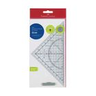 Треугольник+транспортир Faber-Castell Grip 171010 с держателем, прозр 171010