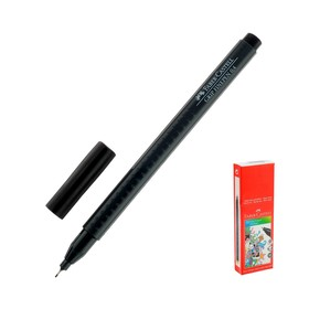 Ручка капиллярная Faber-Castell GRIP линер 0.4 мм черный 151699 Ош