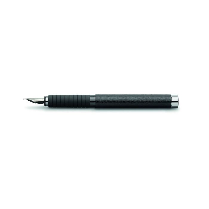 Ручка перьевая подарочная Faber-Castell Basic Black, EF, натуральная кожа,под/к 148832