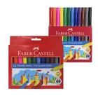 Фломастеры 12цв Faber-Castell Jumbo Замок  в картонной коробке 554312