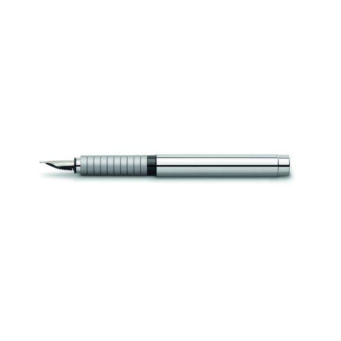 Ручка перьевая подарочная Faber-Castell Basic Metal, EF, полир.хром.мет, под/к 148502