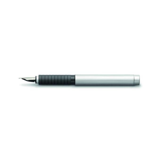 Ручка перьевая подарочная Faber-Castell Basic Metal, B, мат.хромир.мет, под/кор 148523