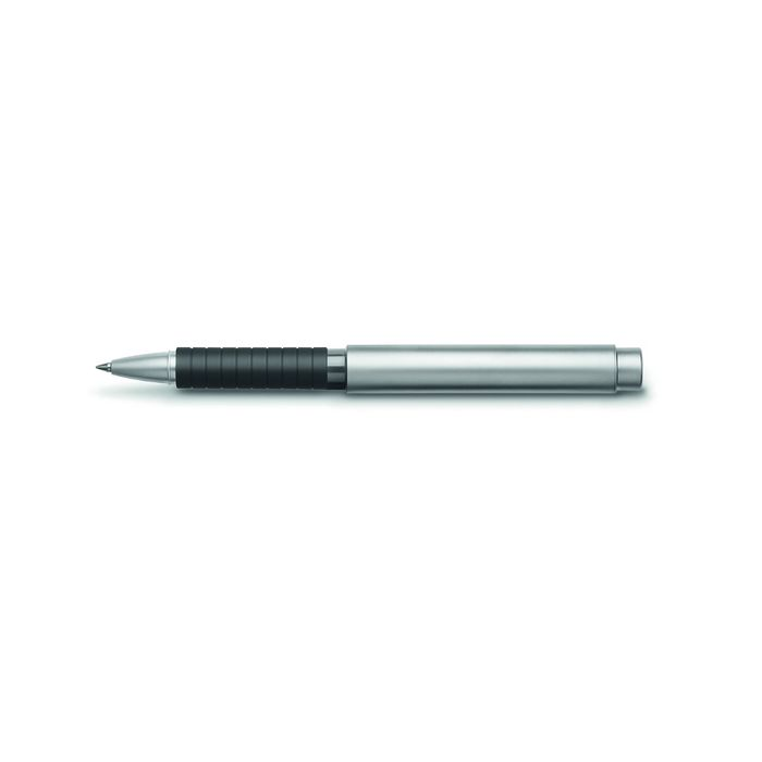 Ручка подарочная роллер Faber-Castell Basic Metal мат.хром.металл, черный, под,/кор 148462