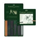 Уголь натуральный набор Faber-Castell PITT® Monochrome Charcoal 24шт, метал.кор 112978