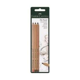 Пастель сухая в карандаше набор Faber-Castell PITT® Pastel, 3 штуки, сангина/черный