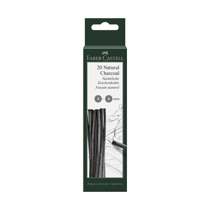 Уголь натуральный набор Faber-Castel PITT® Monochrome Charcoal 12шт 3-6мм, блист 129198