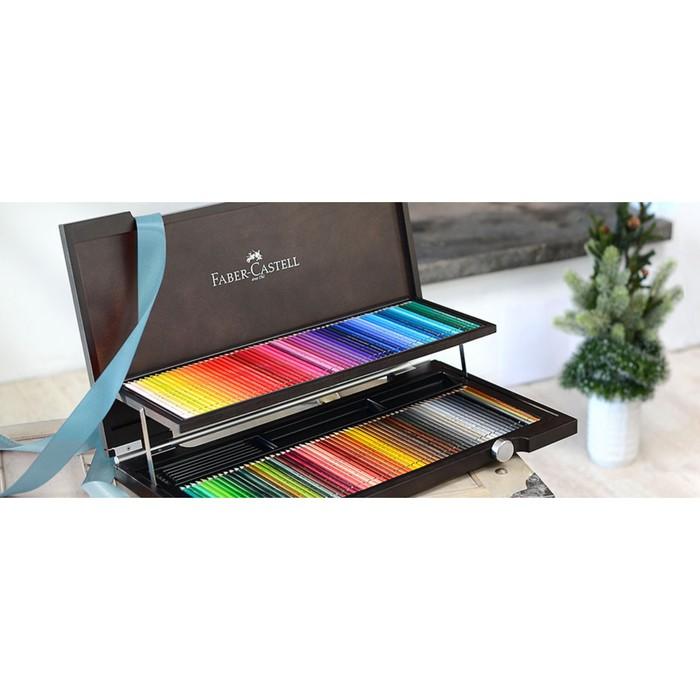 Карандаши худ цветные акварельные Faber-Castell Albrecht DÜRER® 120цв, дерев/пенал 117513