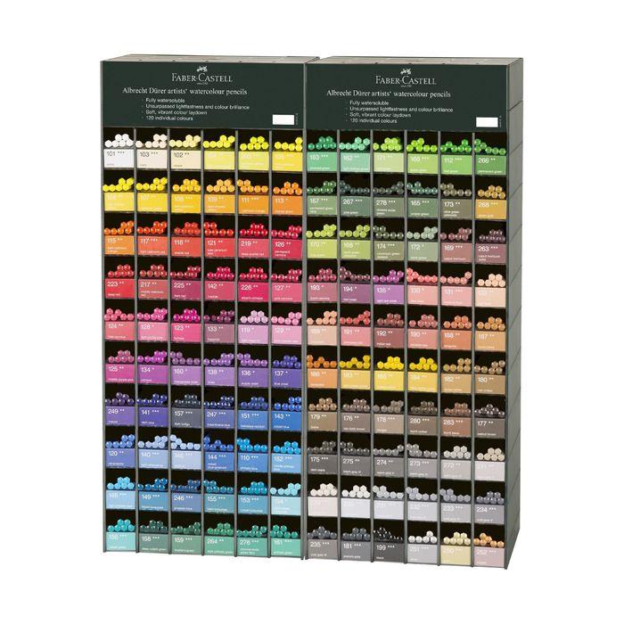 Карандаши худ цветные акварельные Faber-Castell Albrecht DÜRER® 120цв 720шт, 2диспл 117566