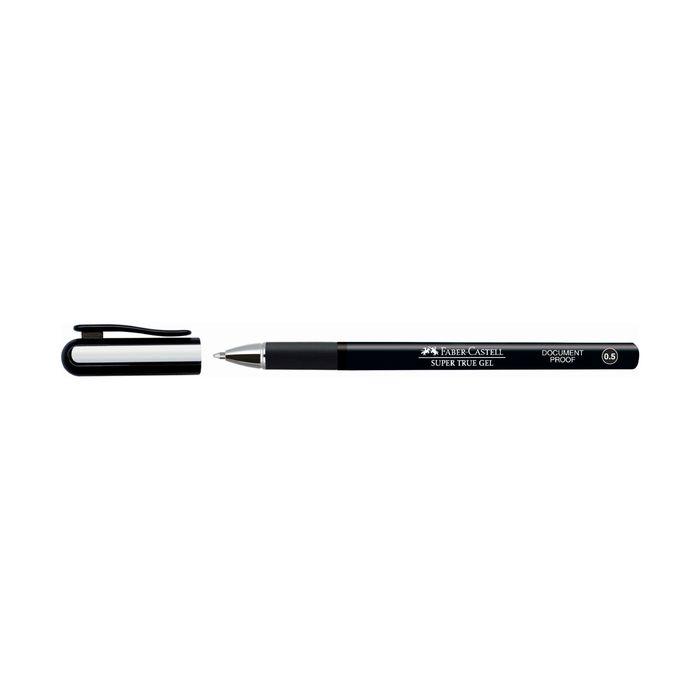 Ручка-роллер Faber-Castell Super True Gel 0.5мм водо- и светостойкие чернила черный 549099