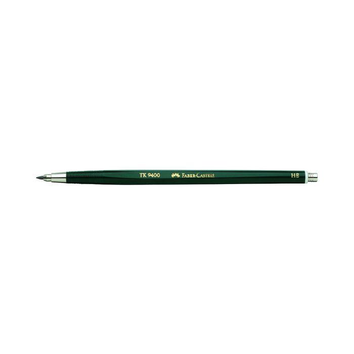 Карандаш цанговый 2.0 мм Faber-Castell TK® 9400 HB зеленый 139400