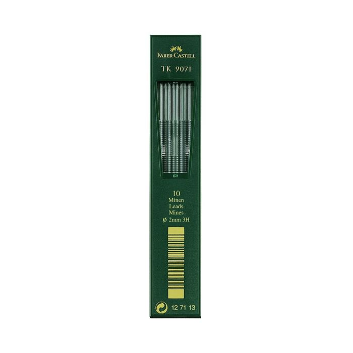 Грифели для цанговых карандашей 2.0 мм Faber-Castell TK® 9071 3H 10 штук 127113