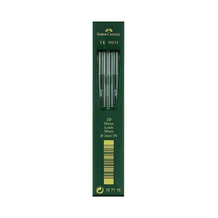 Грифели для цанговых карандашей 2.0 мм Faber-Castell TK® 9071 5H 10 штук 127115