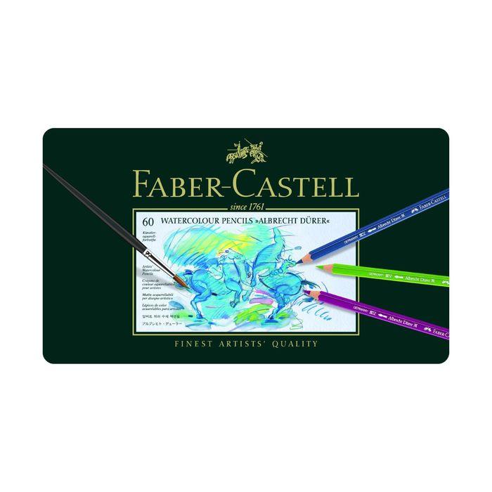 Карандаши художеств цветные акварельные Faber-Castell ALBRECHT DÜRER® 60цв мет.кор  117560