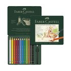 Карандаши художественные акварельные 12 цветов Faber-Castell ALBRECHT DÜRER®, размер XL, металлическая коробка