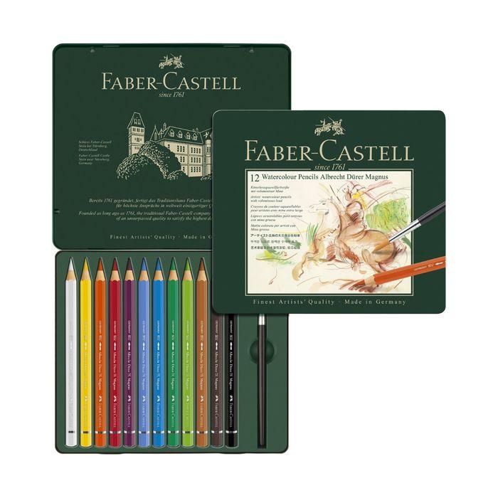 Карандаши художеств цветные акварельные Faber-Castell ALBRECHT DÜRER® 12цв, размер XL, м.к