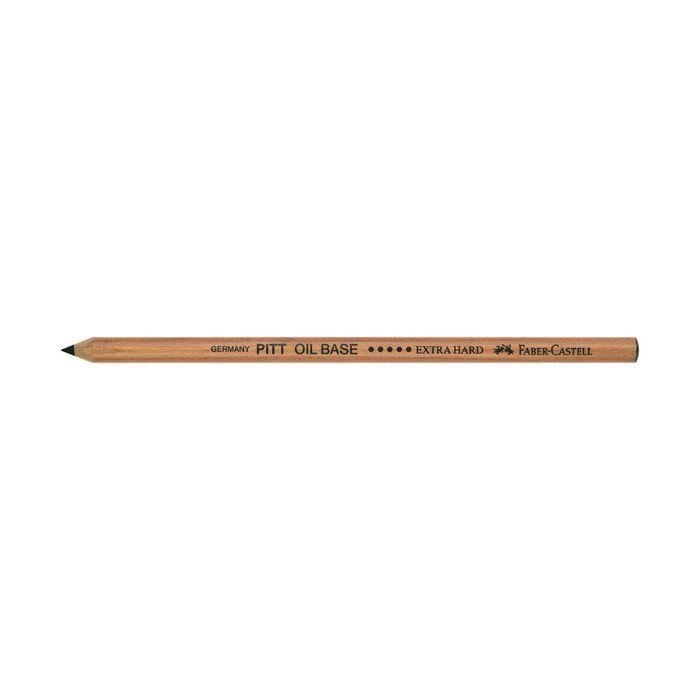 Мелок худ в карандаше Faber-Castell PITT® Monochrome Oil Base Extra Hard черный  112605