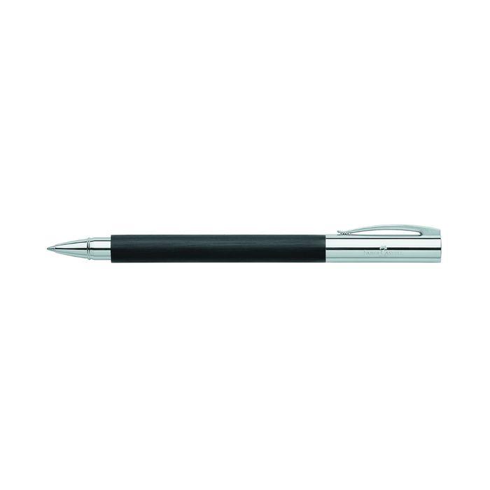 Ручка подарочная роллер Faber-Castell Ambition Edelharz черная смола, черный, под/к 148110