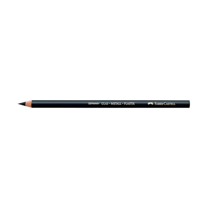 Карандаш специальный Faber-Castell по стеклу, металлу, пластику, черный 115999