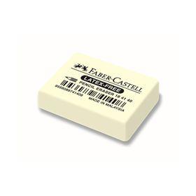 Ластик Faber-Castell каучук 7041 40х27х13, для графитных и цветных карандашей, белый