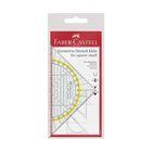 Треугольник+транспортир Faber-Castell Комби прозр/желт, пласт/пенал 177091