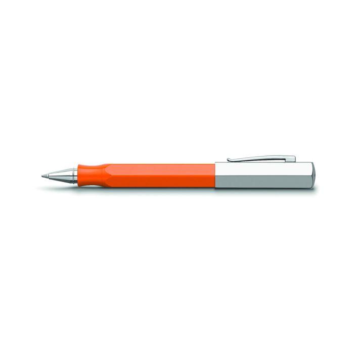 Ручка подарочная роллер Faber-Castell Ondoro Edelharz оранж смола, черный, под/к 147512