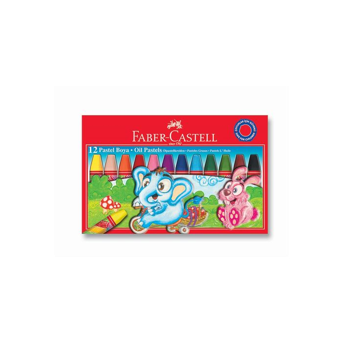Пастель масляная детская 12цв Faber-Castell 74мм, карт/короб 125312